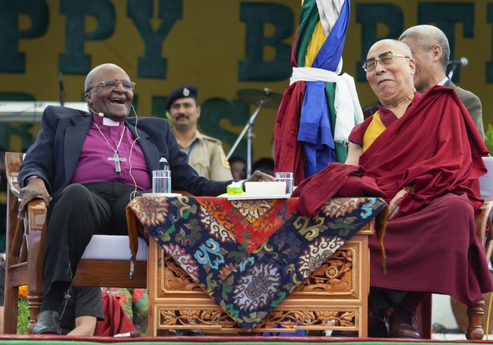Desmond Tutu,  the Dalai Lama